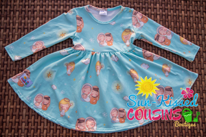 Long Sleeve Nativity Dress