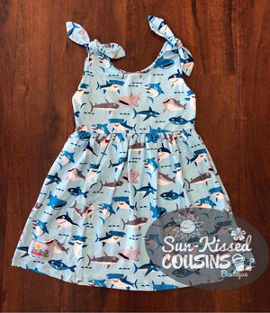 Knot Dress - Sharks