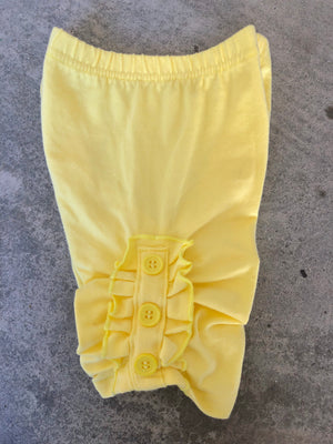 Yellow Triple Button Shorts