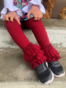Cranberry Bell Ruffle Leggings