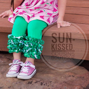 Icing Capris - Green with Plaid Icing