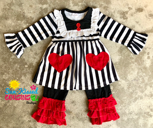 Hearts and Stripes Set- size 6/12m