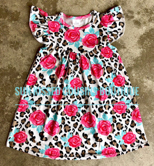 Floral Leopard Pearl Dress
