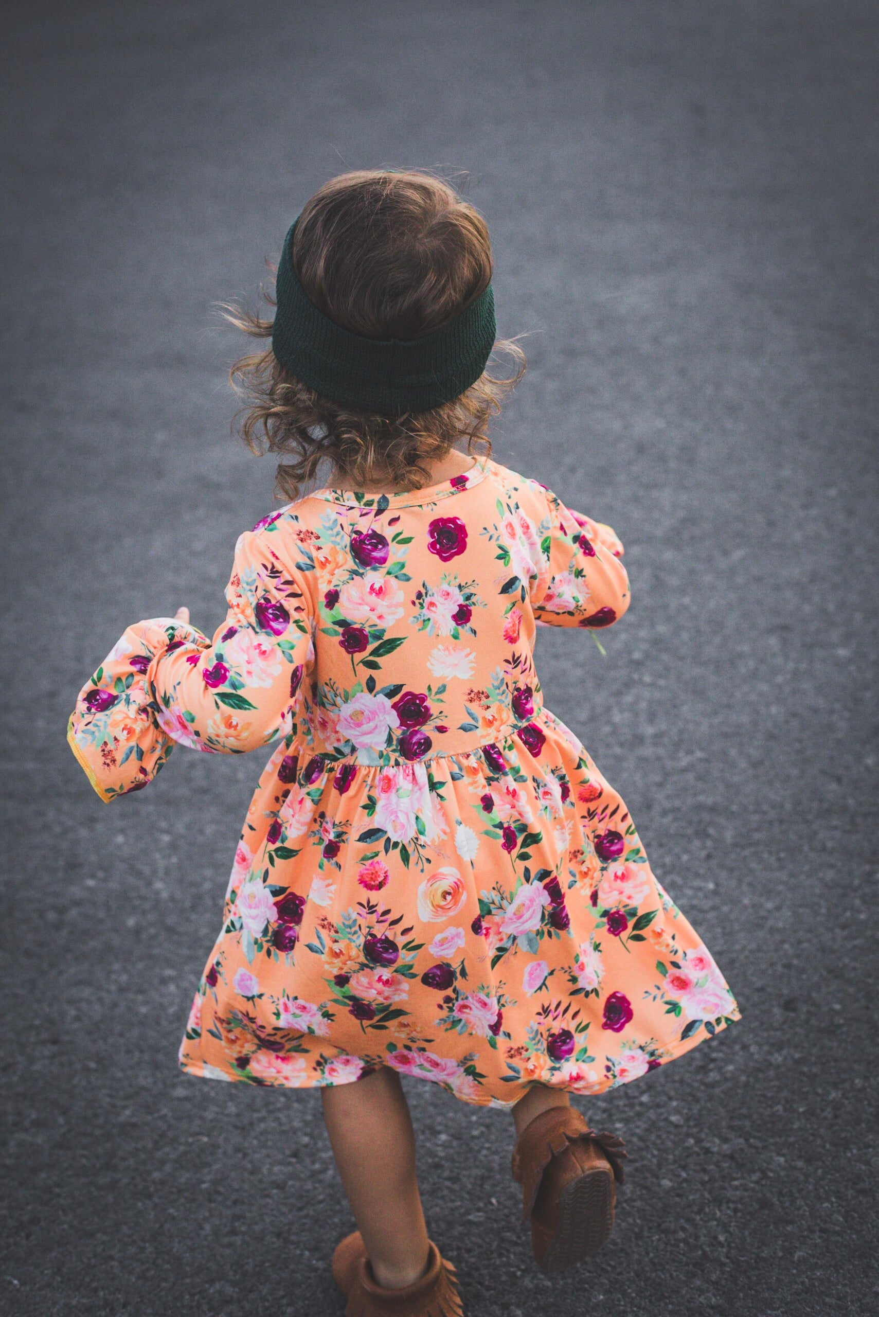 Fall Floral Long Sleeve Dress