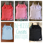 Ruffle Tank Top - Solid (5 color options)