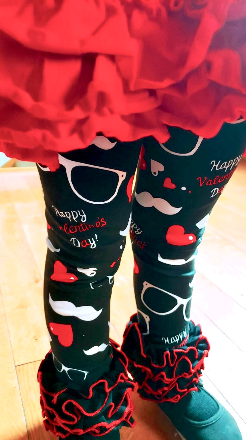 Icing Leggings - Valentine's Day Mustaches