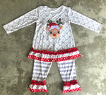 Embroidered Reindeer Set