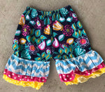 Ruffle Shorts - Funky Floral