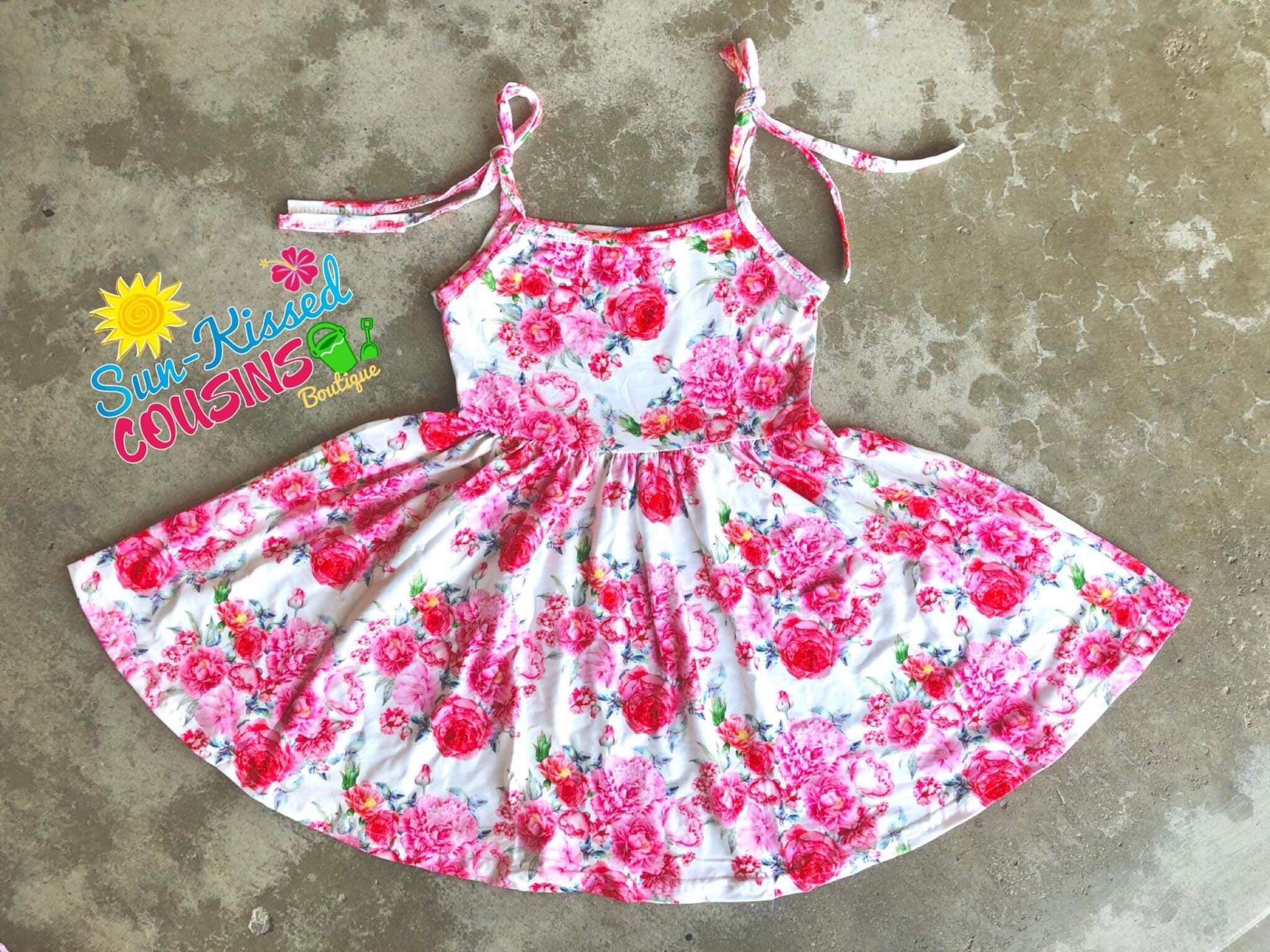 Summer Rose Tank Dress