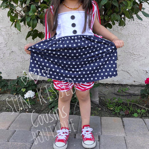 Stars & Stripes Tank Dress Set 0/3m