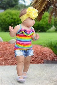 Ruffle Tank Top - Rainbow