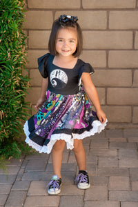 Skellington Sweetheart Twirl Dress