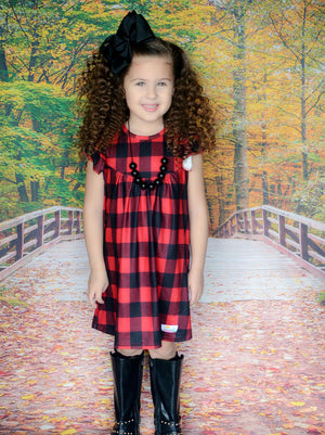Buffalo Plaid Pearl Dress