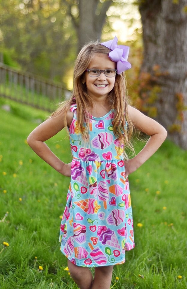 Frozen Treats Knot Dress