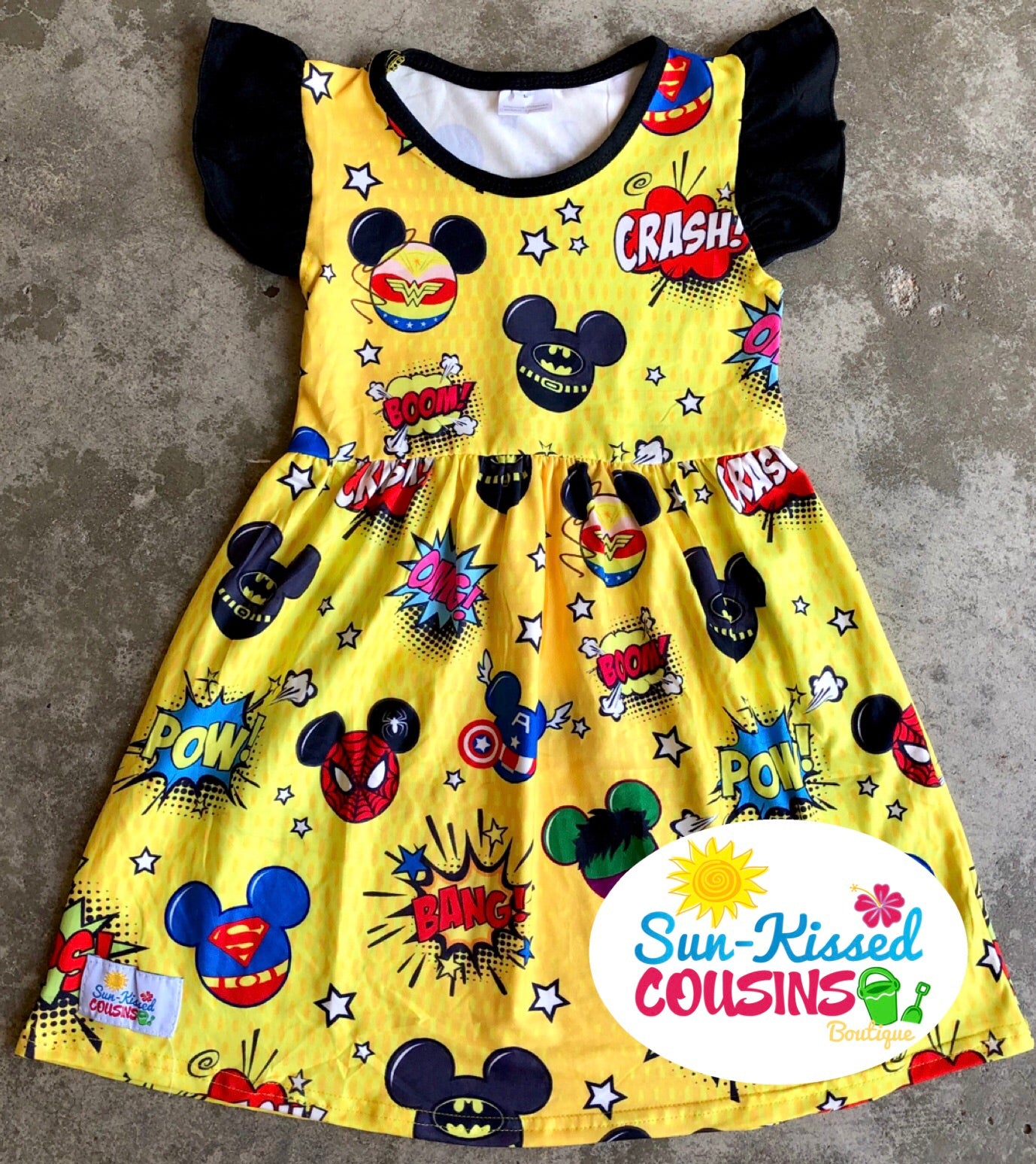 Superhero Mickey Head Pearl Dress