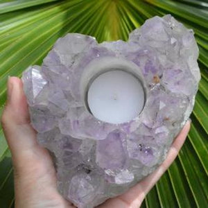 Amethyst Cluster Tealight Holder