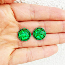 12mm resin earrings