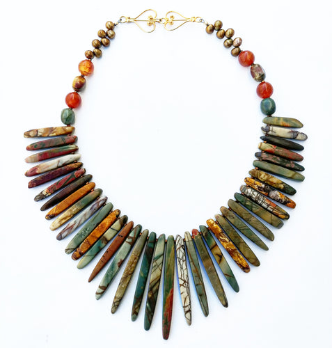Imperial Jasper Statement necklace