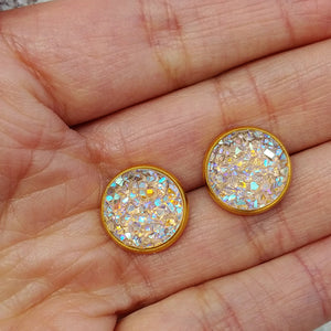 Faux Druzy with Gold Setting