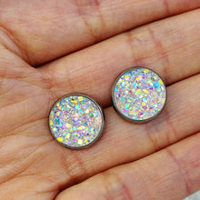 Faux Druzy with Silver Hypo-Allergenic Setting