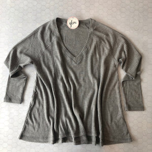 Shades of Grey Waffle Top