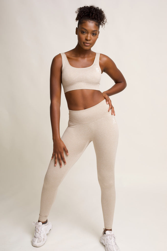 Malaika Ribbed Seamless Leggings in Java