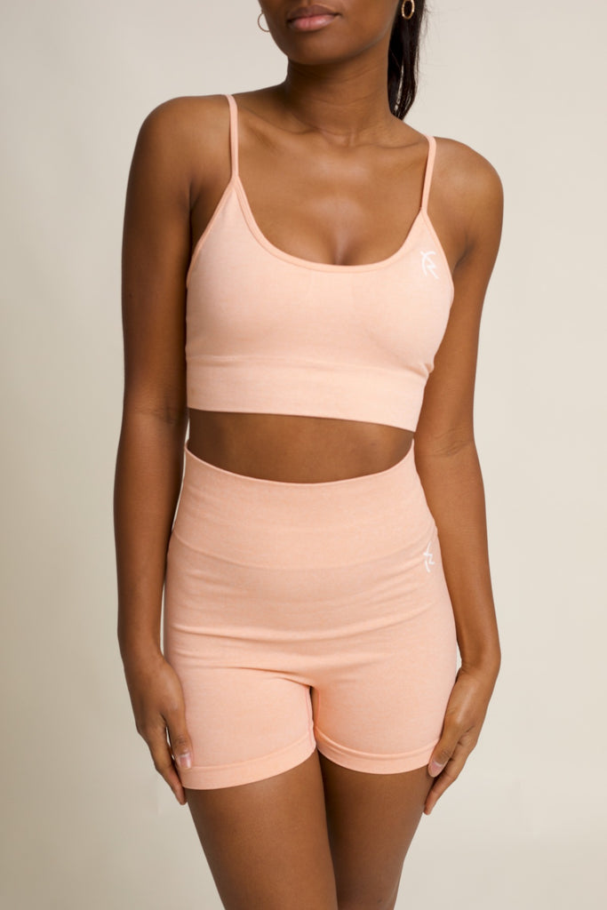 Safiyah Seamless Short Set in Peach