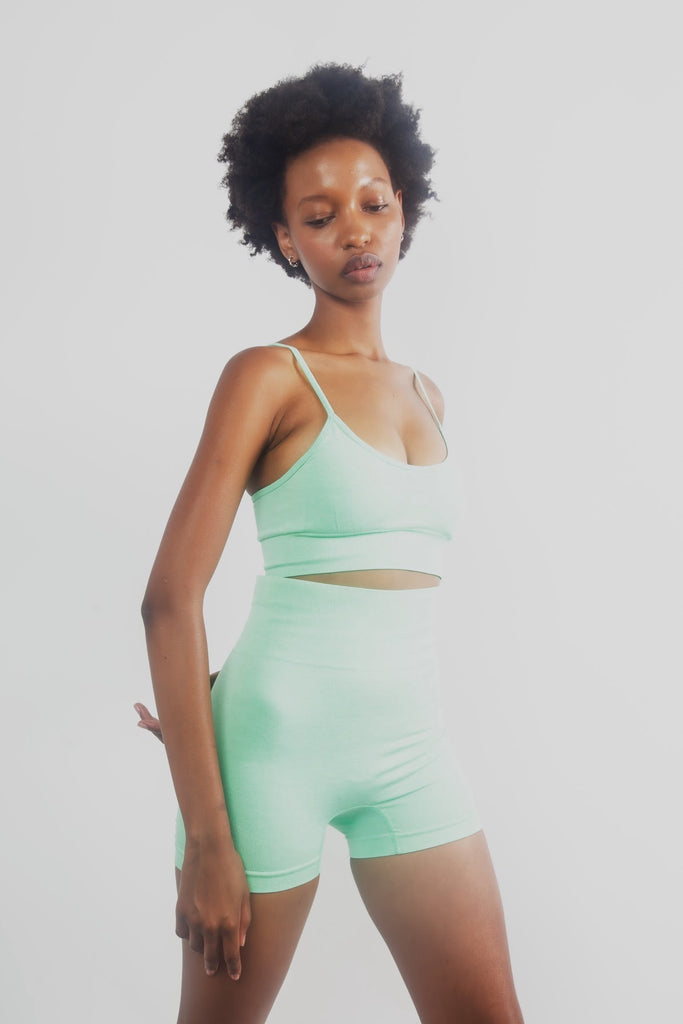 Safiyah Seamless Short Set in Mint