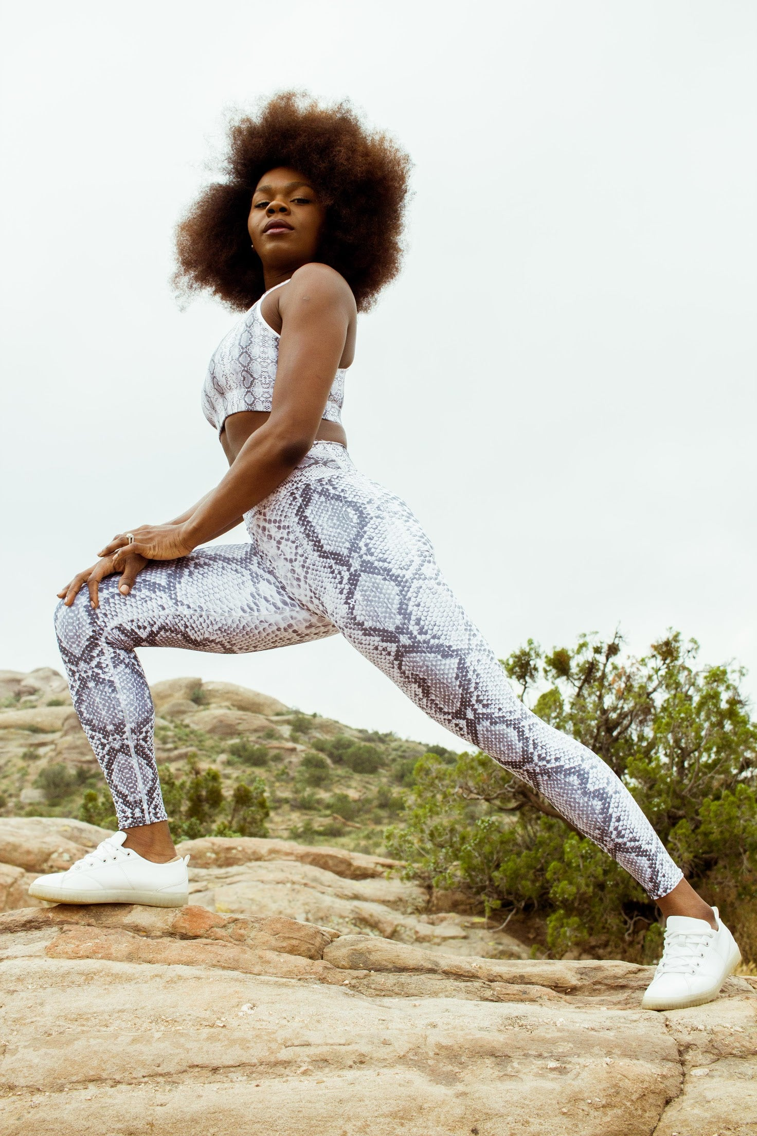 'Safi' Snake Skin Yoga Leggings