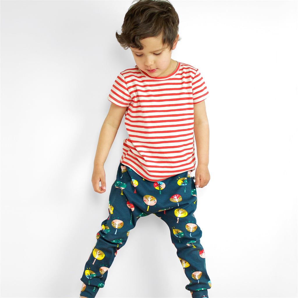 Organic Baby + Kids Harem Pants - Trees | Moeder Fox