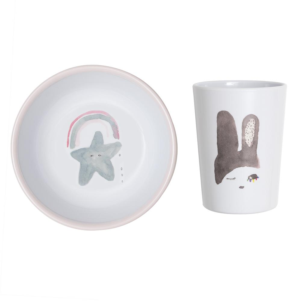 Lapin & Me X Pax & Hart Cup and Bowl Set - Bunny Ears | Moeder Fox