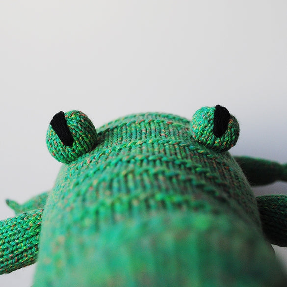Handmade knitted soft toy - Coco Croco | Crocodile soft toy | LaMaglia toys | Moeder Fox favourite things