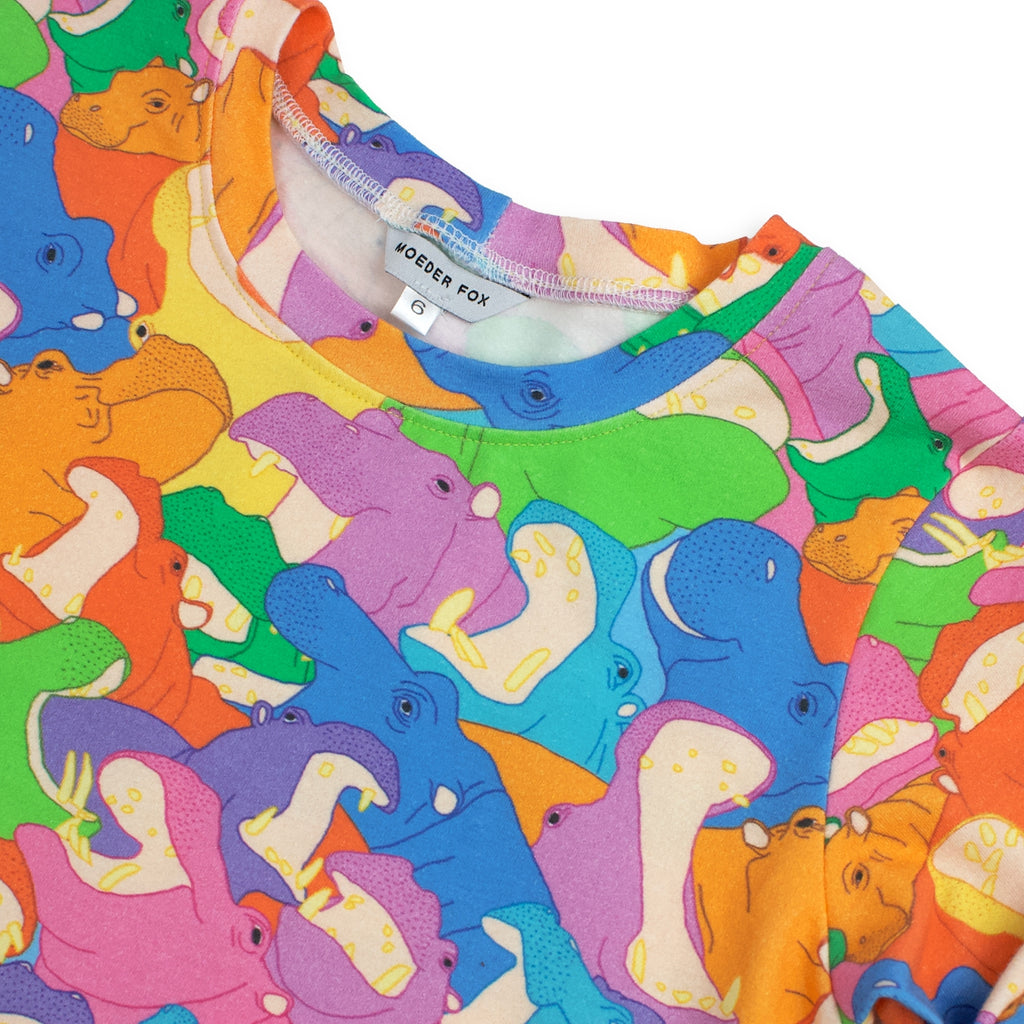 Long sleeve Top - Happy Hippos