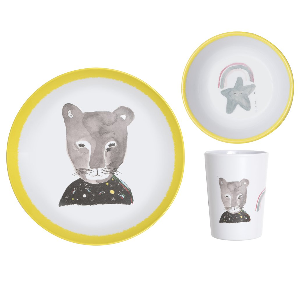 Lapin & Me X Pax & Hart Dinner Set - Panther | Moeder Fox