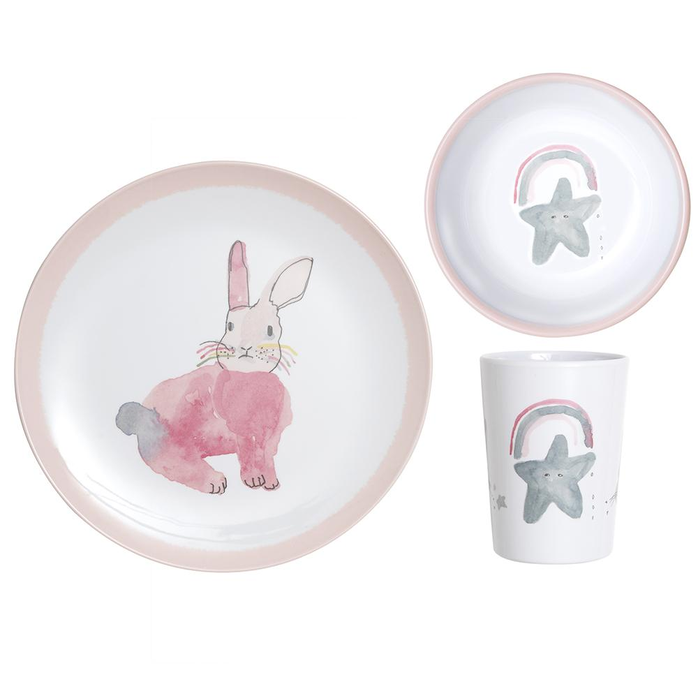 Lapin & Me X Pax & Hart - Children's dinner set | Moeder Fox