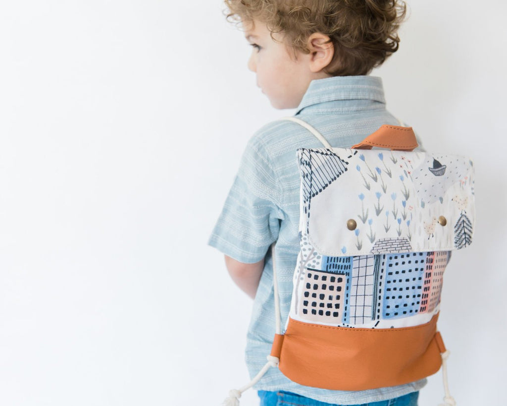 uptown backpack - Grounded Company | Kids city landscape backpack | vegan leather | Moeder Fox favourite things