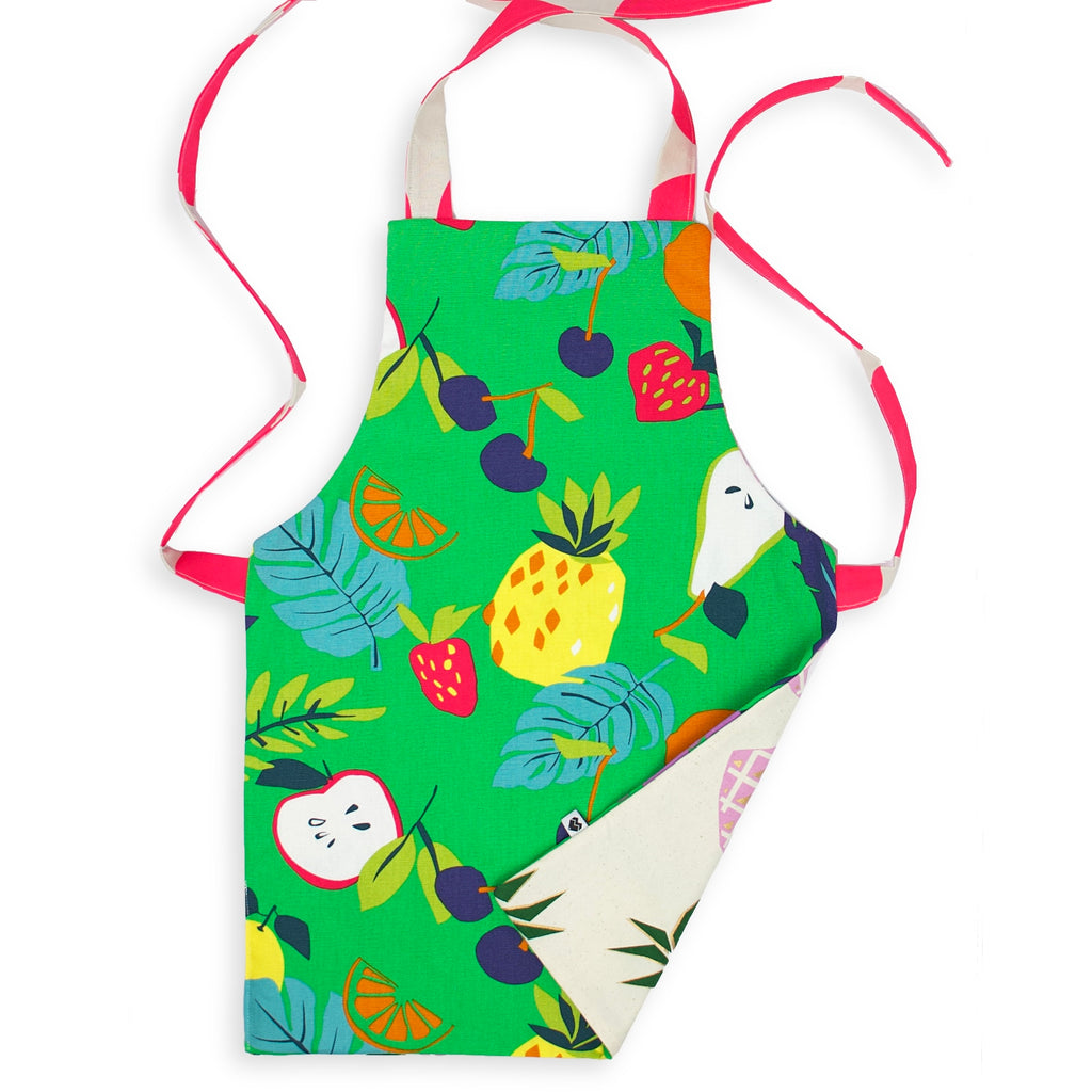 Kids Reversible Apron - Fruit/Pineapples