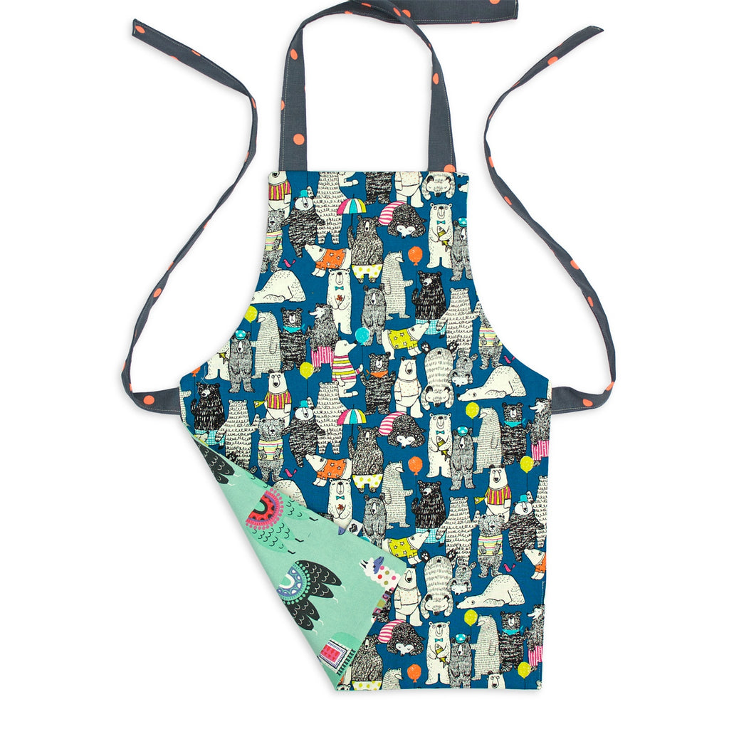 Kids apron - llamas and party bears | Moeder Fox