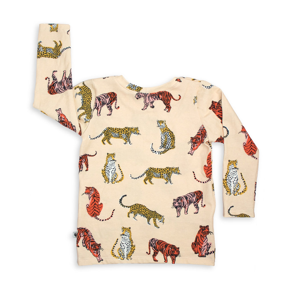 Kids Long sleeve top - Big Cats | Handmade in Australia | Moeder Fox
