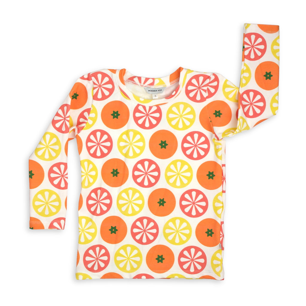 Kids Long sleeve top - Citrus | Handmade in Australia | Moeder Fox