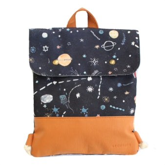 cosmic backpack - Grounded Company | Kids space galaxy backpack | vegan leather | Moeder Fox favourite things