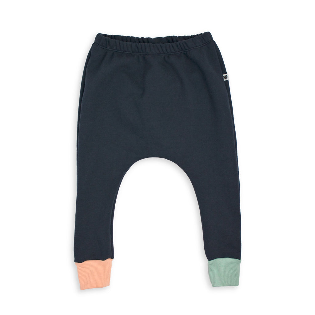 Organic Cotton Fleece Trackies - Dusk