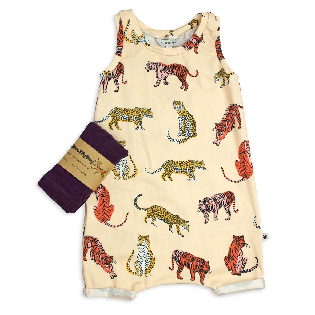 Gift Set - Big Cats (Jumpsuit + tights)