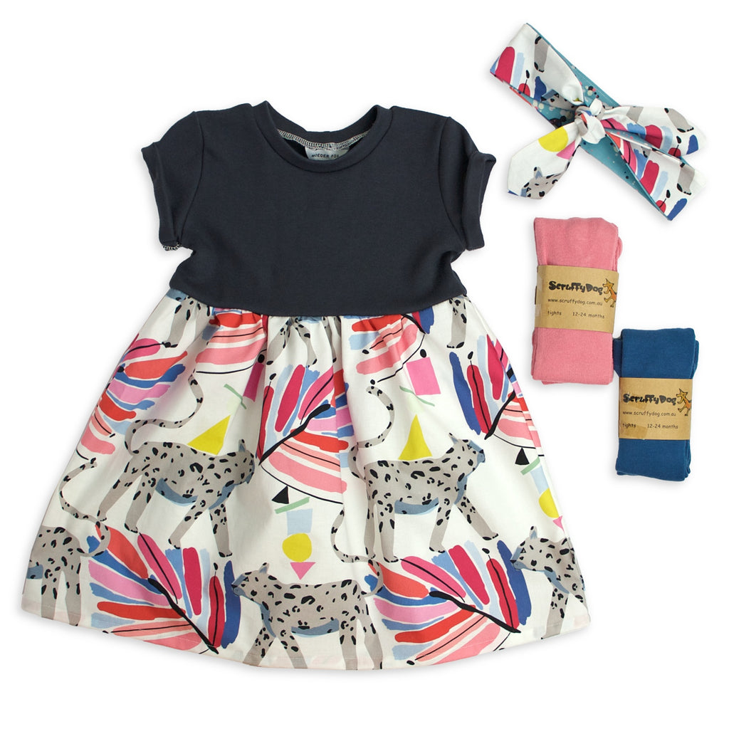 Gift Set - Jungle Jingle (Billie Dress + Headband + (x2)Tights)
