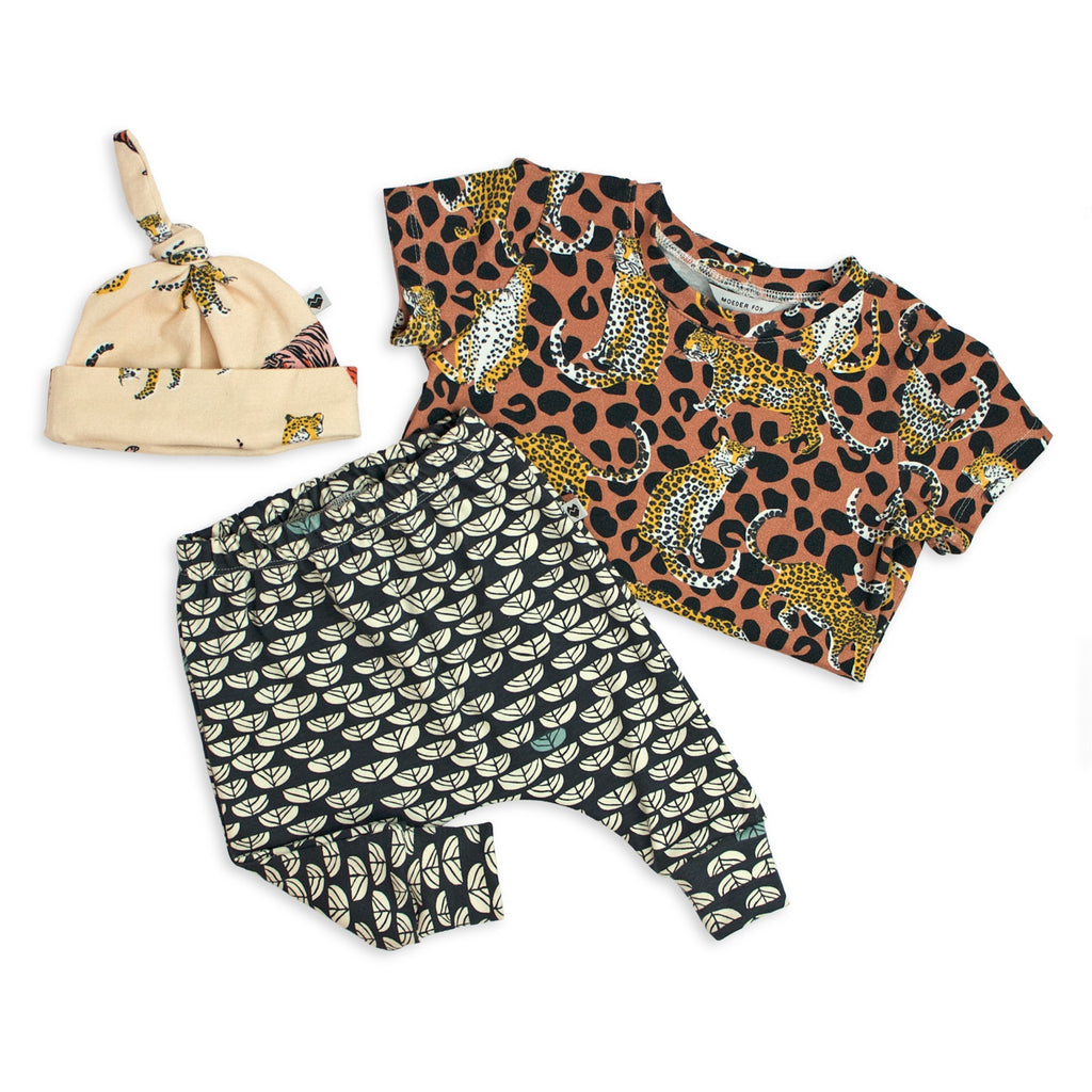 Gift Set - Print Lovers (Harem Pants + Tee + Beanie)