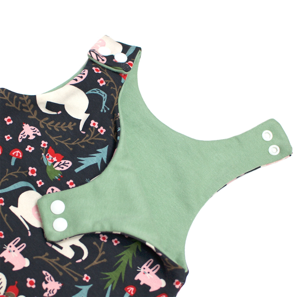Organic Harem Romper - Enchanted Unicorns