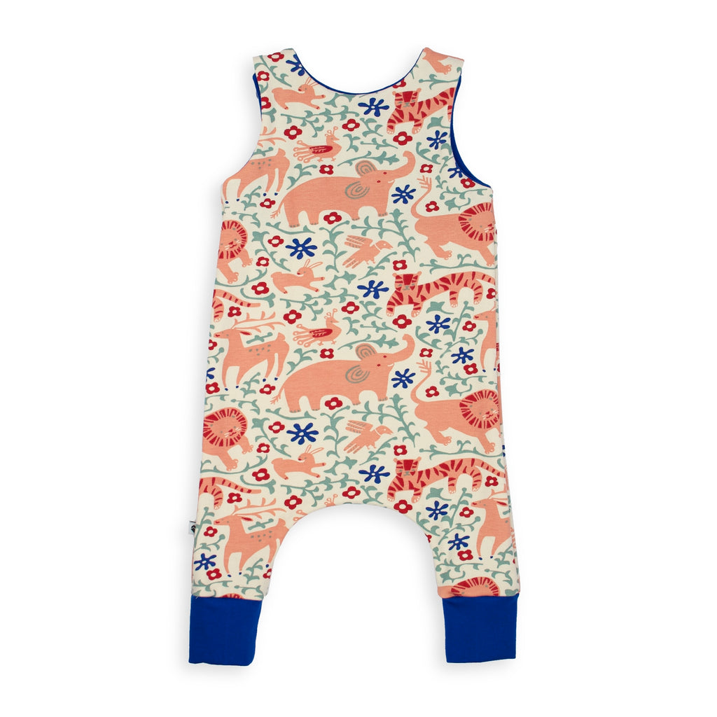 Organic Harem Romper - Jungle
