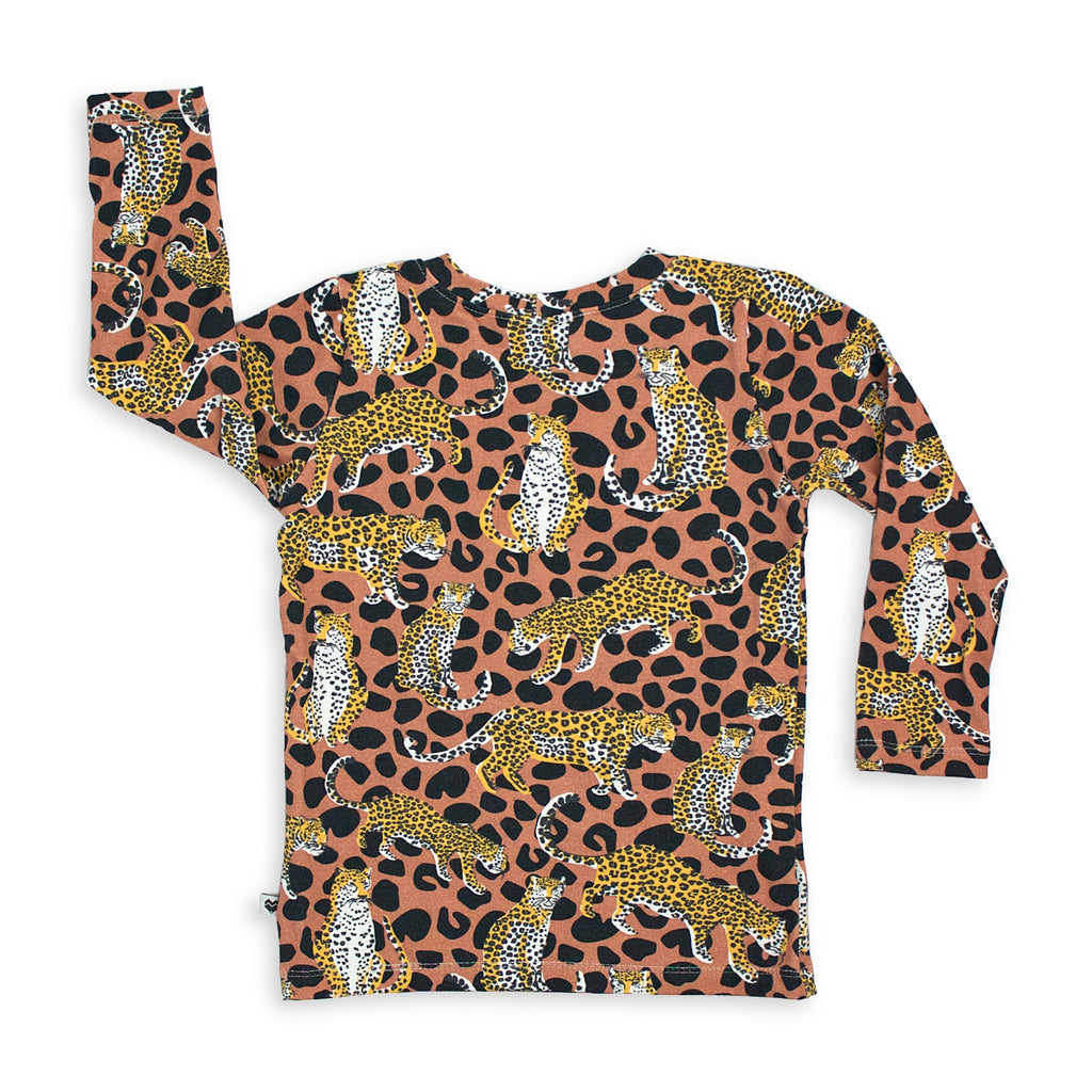 Kids Long sleeve top - Leopards | Handmade in Australia | Moeder Fox