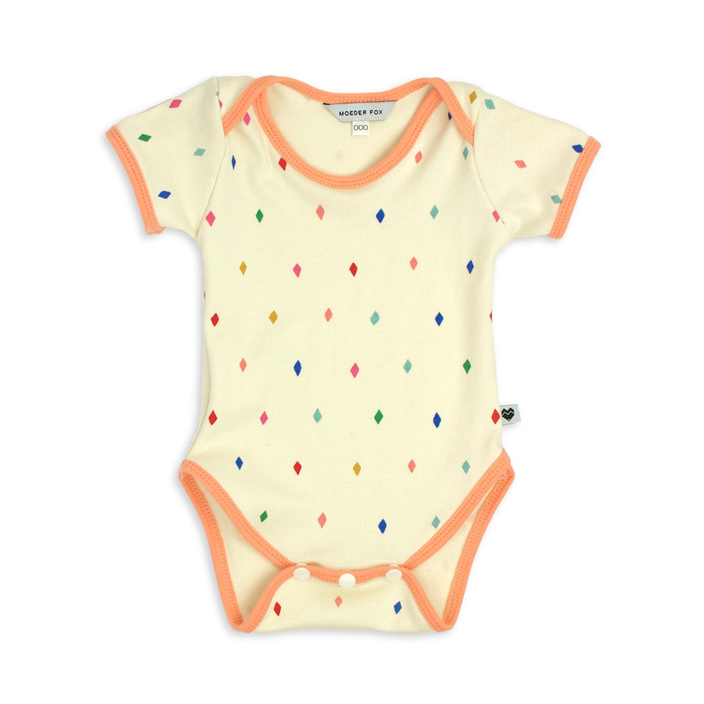 Organic Baby Onesie - Diamonds | Handmade in Australia | Moeder Fox