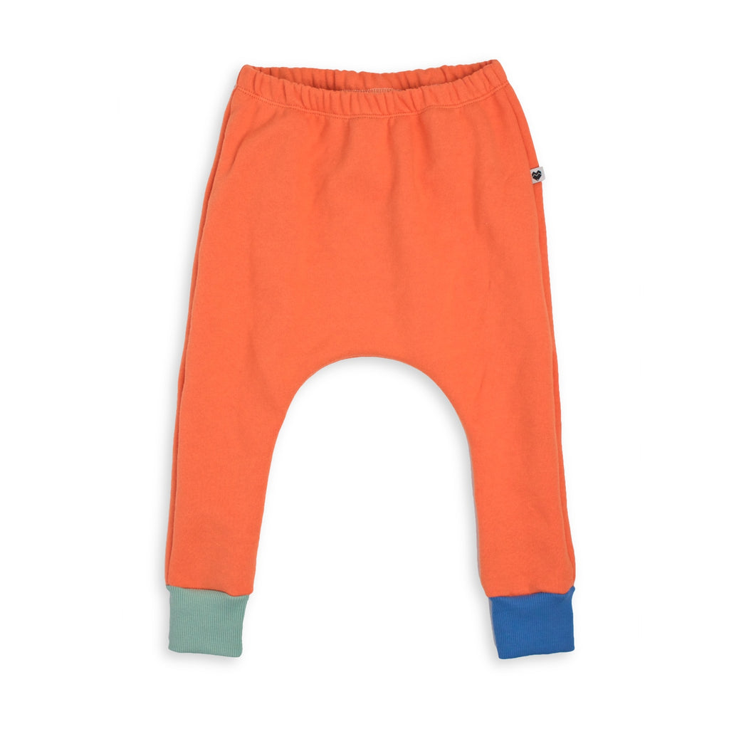 Organic Cotton Fleece Trackies - Persimmon